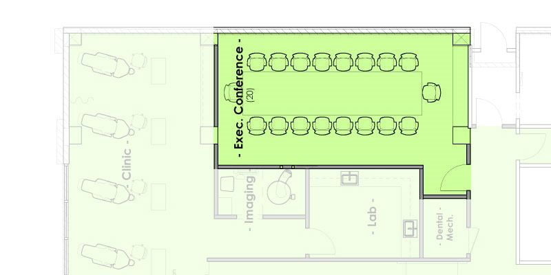Mountain West Dental Institute (MWDI) Executive Board Room Layout