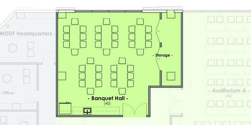 Mountain West Dental Institute (MWDI) Banquet Hall Layout