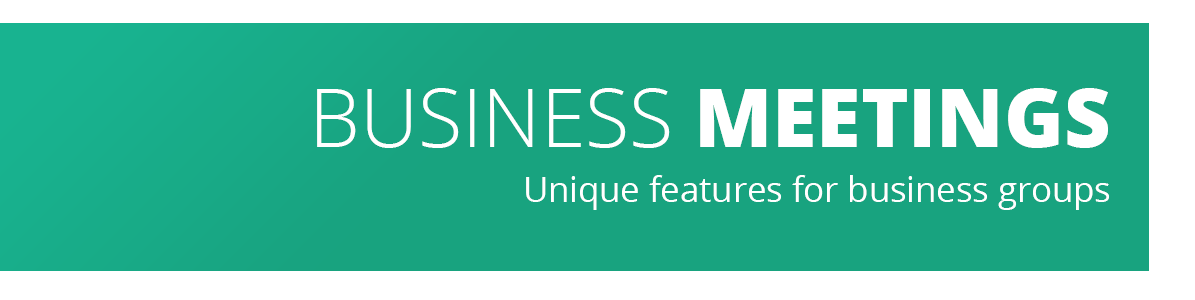 Business Meetings - Unique features for business groups at Mountain West Institute (MWI)
